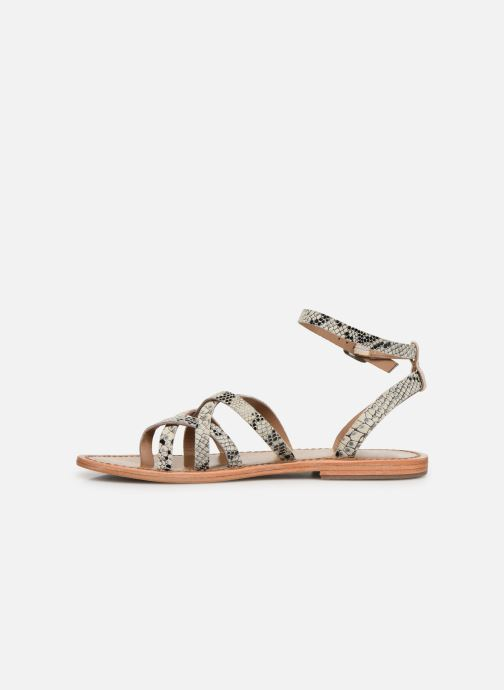 Sandals White Sun Babylonia Grey front view